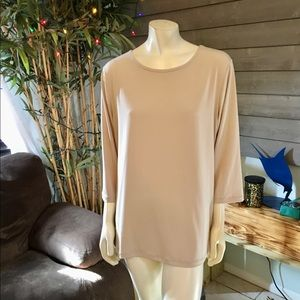 Susan Graver Essentials Champagne Tunic Top XL